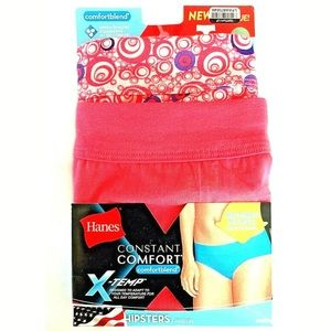 ❤️2 Hanes X-Temp Women's Hipsters Size 5